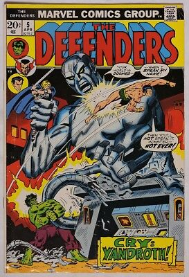 S954. THE DEFENDERS #5 by Marvel Comics 3.5 VG- (1973) ORIGIN OF VALKYRIE `