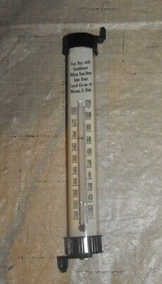 Vintage Tube Thermometer Co -Op Menno, South Dakota