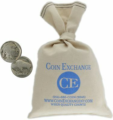 $20 Face Value Bag 400 Coins Buffalo Nickels No Date