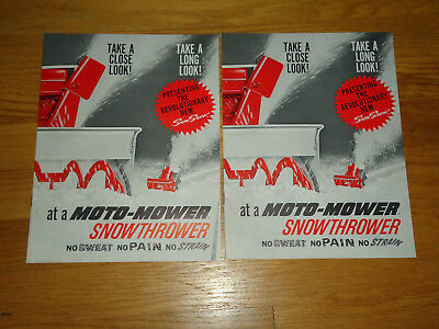 2-1960's Moto-Mower Snowthrower Catalogs-CLEAN