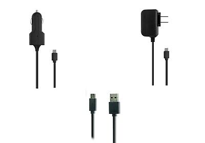 Car Wall Home Charger + 5ft USB Cable for Samsung Galaxy Tab A SM-T280 7 Tablet