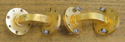 Pair 90° Bend WR22 Waveguide 33-50GHz