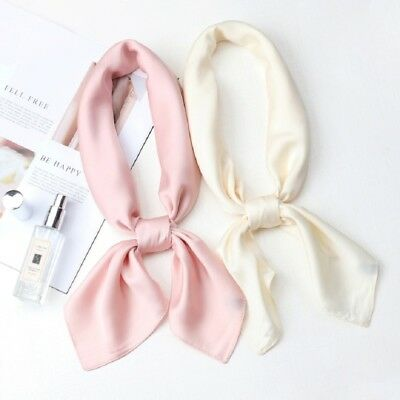 """Women's Solid Candy-Color Kerchief Scarf Small Square Office Soft Scarves27""""*27"""""""