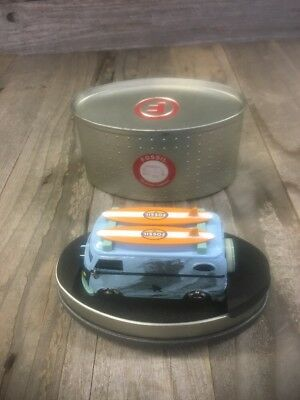 Fossil Limited Edition Surf Van Clock  Timepiece Rare Volkswagen Vw Bus New