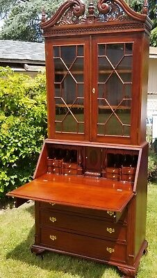 AMAZING 19th Century Secretary Desk and Hutch w/ SEVEN SECRET COMPARTMENTS!!