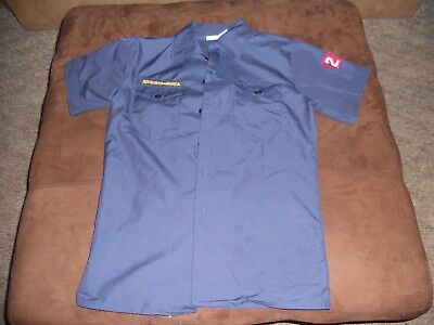 Euc Official Boy Scouts Of America Youth Large Shirt Navy Blue 281
