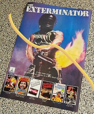 large 1983 Thorn EMI video release advert for THE EXTERMINATOR + other videos