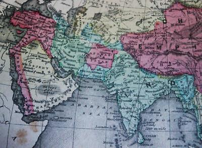 RAND MCNALLY SYSTEM OF GEOGRAPHY ATLAS PLATE MAP NO.29 ASIA VINTAGE 1870s