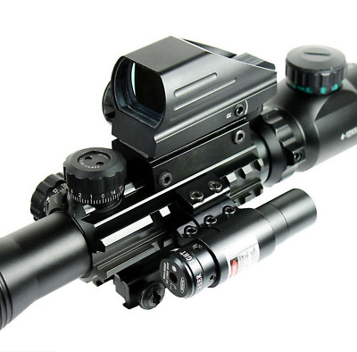 Outdoor Rifle Scope 4-12X50EG Scope+Holographic 4 Reticle Dot Sight+Red Scope