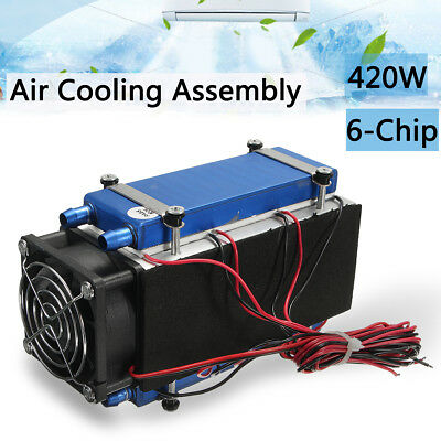 420W 36A 6-Chip Semiconductor Peltier Refrigeration Air-Condition Radiator Kit