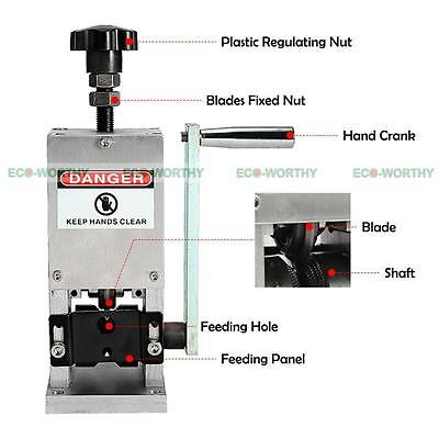 Hand Copper Cable Wire Stripping Machine Crank Scrap Wire Striper Drill Connctor