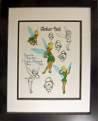 Original Disney Tinker bell Drawn Perfection Hand Signed Margaret Kerry New