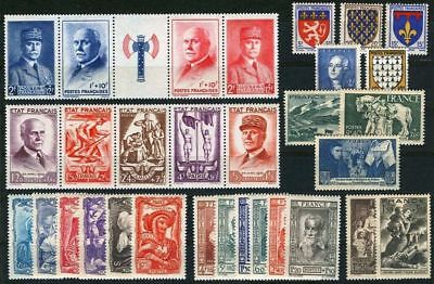 FRANCE STAMP ANNEE COMPLETE 1943 NEUVE xx LUXE ,31 TIMBRES VALEUR: 215€  A712