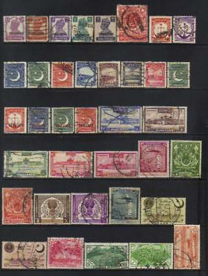 Pakistan 1947-1954 Used Selection Cat £30+