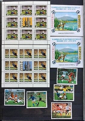 d Fußball Football MNH Jugoslawien Albanien Paraguay 18€ VALUE LOOK Block Sheet