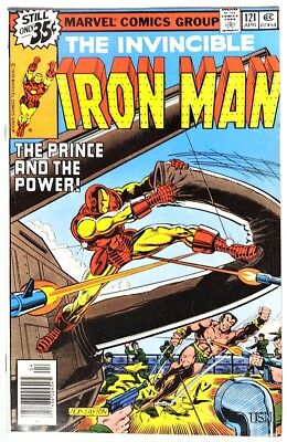 """S975 IRON MAN #121 Marvel 7.0 FN/VF (1979) ALCOHOLISM Story """"Demon in a Bottle""""`"""
