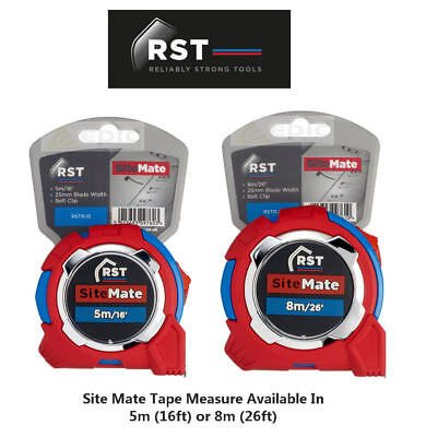 RST SITE MATE Metric/Imperial Double Side Tape Measure Choose 5m/16ft or 8m/26ft
