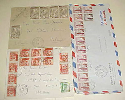 MOROCCO  10 or MORE STAMPS ON EACH OF 4 DIFF. COVERS 1949-1959
