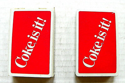 """1980s COCA COLA """"COKE IS IT"""" DECK OF PLAYING CARD - UNOPENED IN BOX"""