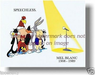 Speechless Mel Blanc Bugs Bunny Daffy Duck tribute Warner Bros 8x10 Brand NEW