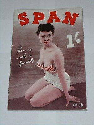 Vintage Mens Glamour Magazine SPAN No. 18 Shirley Ann Field Tempest Storm 1950s