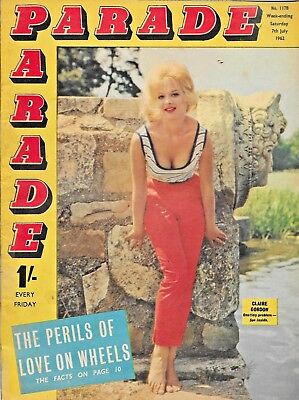 Parade  Magazine No. 1178 Cover Photo CLAIRE GORDON 7th. July 1962