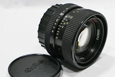 Carl Zeiss Planar 50mm 1:1.4 Lens m/i Germany QBM II mount fits Rolleiflex SL350