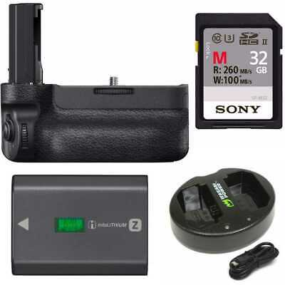Sony VGC3EM Vertical Grip with Sony NPFZ100 Z-series Rechargeable Battery Bundle