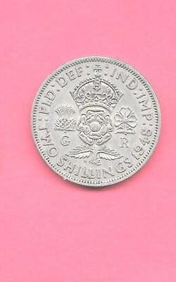 Great Britain Gb Uk Km865 1948 Vf-Very Fine-Nice Old Vintage Florin Coin