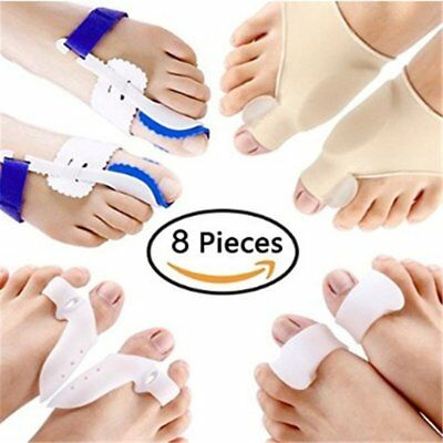 8PCS/SET Hallux Valgus Corrector Alignment Toe Separator Pain Relief Foot CareBD