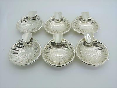6 Beautiful Vintage Sterling Silver SHELL cigarette Ash tray Sterling Silver 925