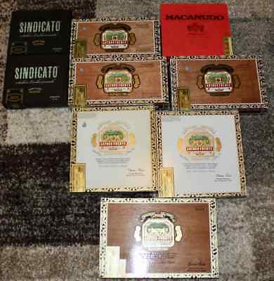 Mixed Lot of Paper-Wrapped Cigar Boxes (Used - EMPTY - Lot of 9)