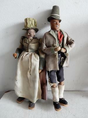 really old doll DOLLS antique hand made married couple