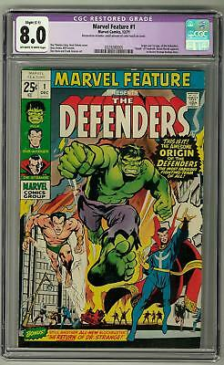 Marvel Feature #1 CGC 8.0 (OW-W) Origin and 1st Appearance of the Defenders