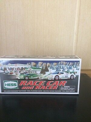 2009 Hess Toy Truck Race Car & Racer Not Removed W/box Issue