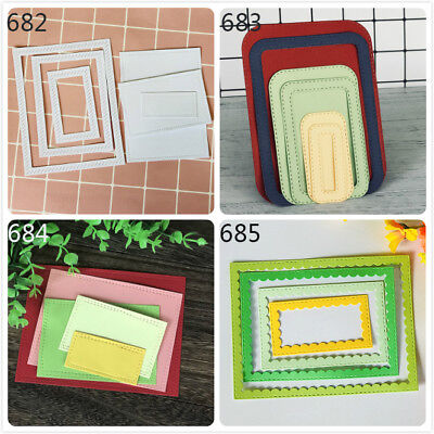 Square Frame Design Metal Cutting Dies For DIY Scrapbooking Album Paper Cards TO