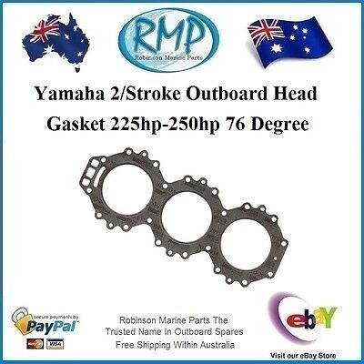 1 x New RMP Head Gasket Yamaha Outboard 76 Degree 225hp-thru-250hp # R 61A-11181