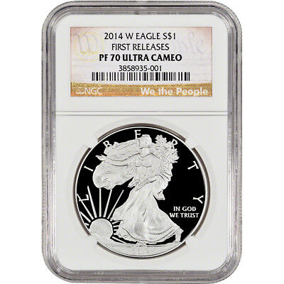 2014-W American Silver Eagle Proof - NGC PF70 - First Releases - We the People
