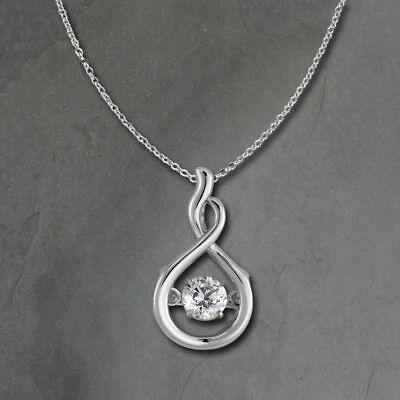 Pendant Bow Dancing Stone with Chain Silver DSK100W [Imppac]