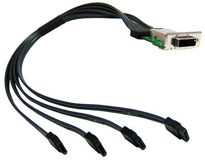 HP Z800 External Mini SAS to 4 x SATA Panel HDD Cables with Bracket 398299-001