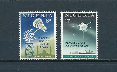 Nigeria #143-4 MNH, 1963 Space set