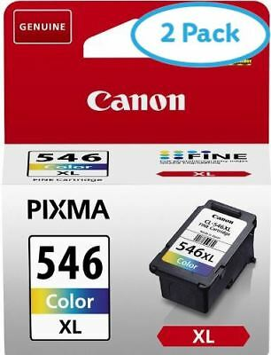 2 Packs of Canon CL-546XL High Yield Colour Inkjet Cartridge