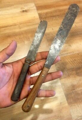 Antique Old Steel Blade Hand Forged Beautiful Handle Butter Knife Knives