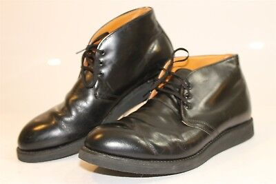 972f87deb Red Wing Shoes USA Made Mens 11 D Postman Chukka Black Leather Boots 9196 en
