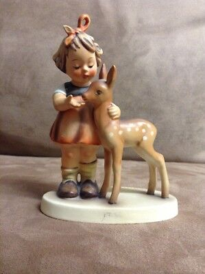 Hummel Porcelain Figurine-TMK 2-#136/I Friends, FULL BEE, incursed 1947 HI GRADE