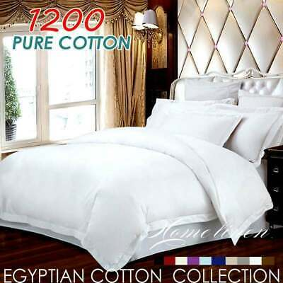 ALL $75 1200TC Egyptian Cotton Sheet Set Bed Linen King/Queen/Double/Single size