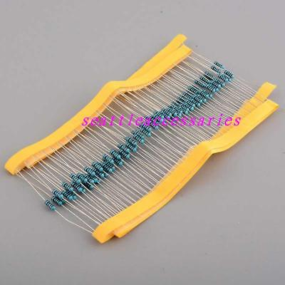 50pcs 1/4W 0.25w Watt Metal Film Resistor ±1% 1M 1K-910K ohm Ω
