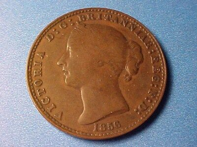 NOVA SCOTIA LARGE PENNY TOKEN 1856 NICE VICTORIA WITH LCW NS-6a1