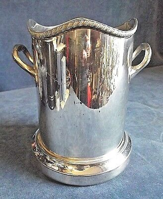 GOOD Large ~ SILVER Plated ~ Walker & Hall ~ BOTTLE / Cutlery COASTER ~ c1935