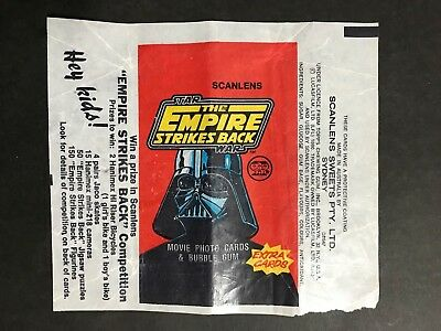 Scanlens Star Wars The Empire Strikes Back Wax Wrapper